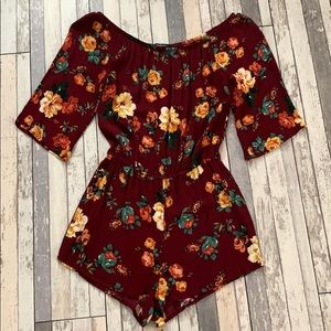 Beautiful Floral Romper szS